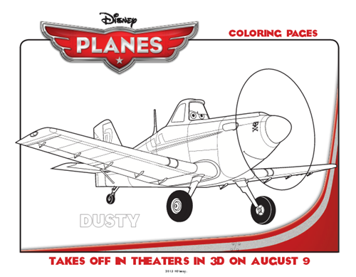 Disney Planes Printable Coloring Pages & Dusty Appearing at Dayton ...