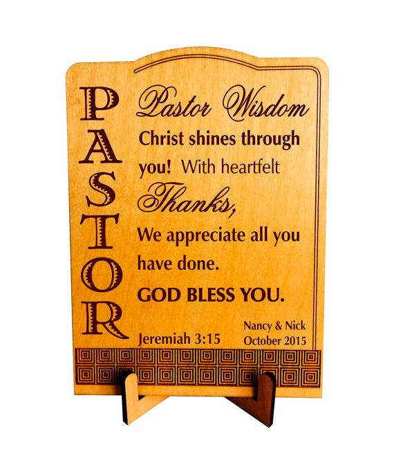 Pastor Wedding Gift Gifts For Pastor Appreciation From Family