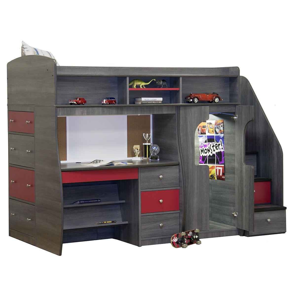 Berg Furniture Play U0026 Study Fun Center Play, Study U0026 Storage With ...