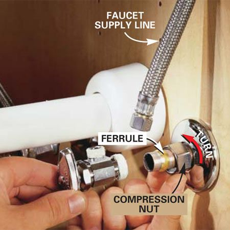 How to Replace a Shutoff Valve | Plumbing & plumbing Supplies ...