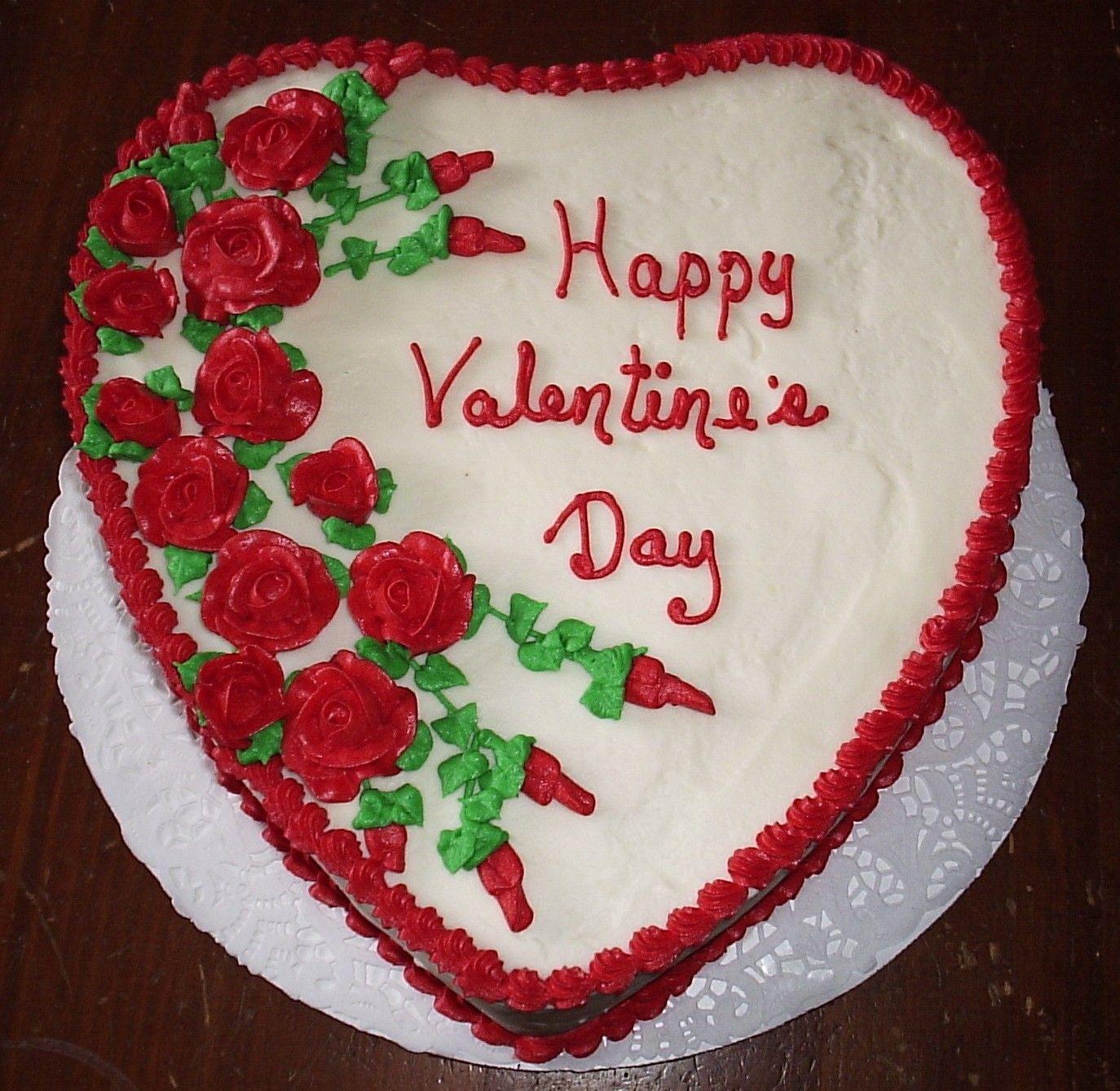 Valentineus day heart shaped red velvet cake with cream cheese