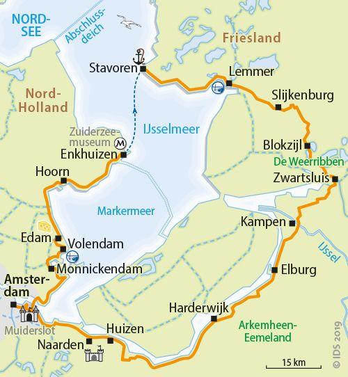 Ijsselmeer – Rundtour - Radreise Radurlaub Holland