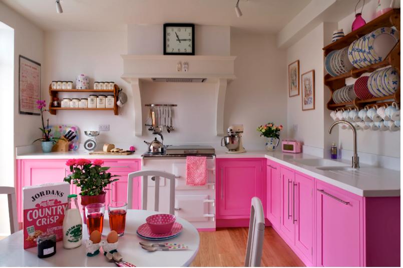 Pinke Küche | Wohnideen | Küche pink, Küchenfarbe und Rosa ...