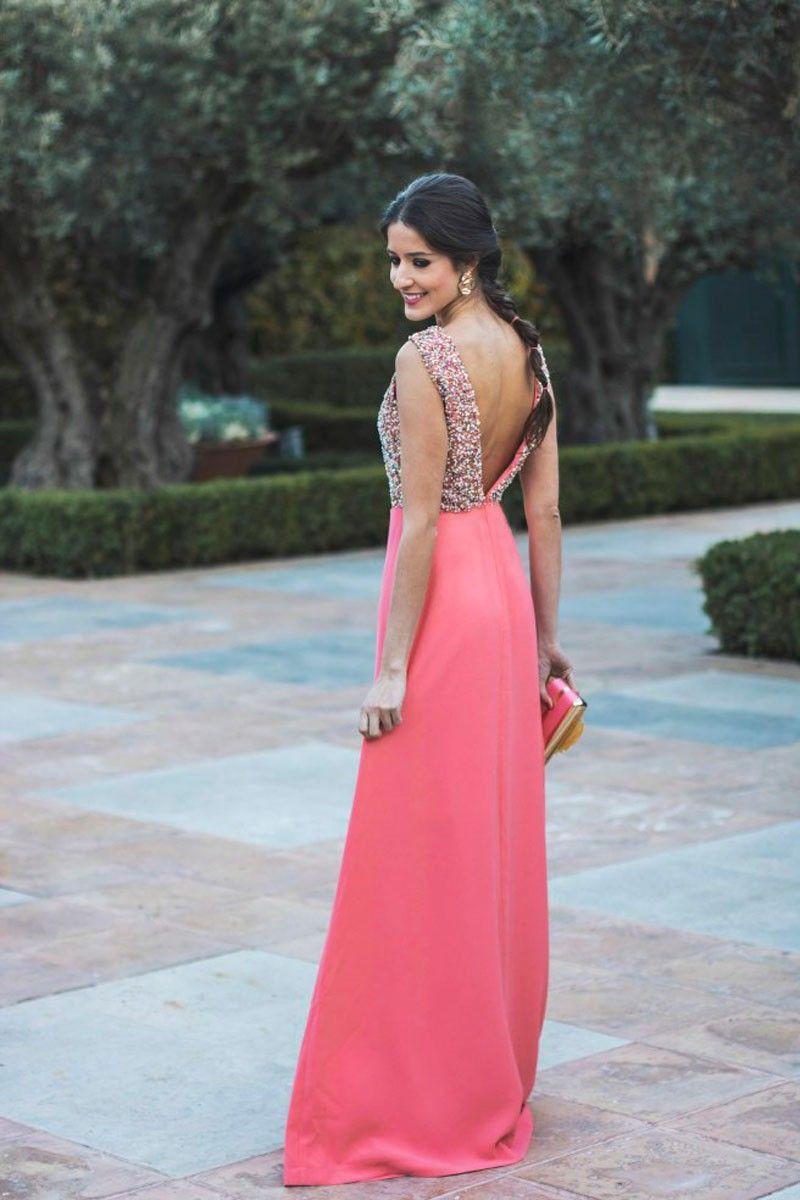 Vestido Largo Cuerpo Lentejuelas Aster | Pinterest | Faldas de vuelo ...