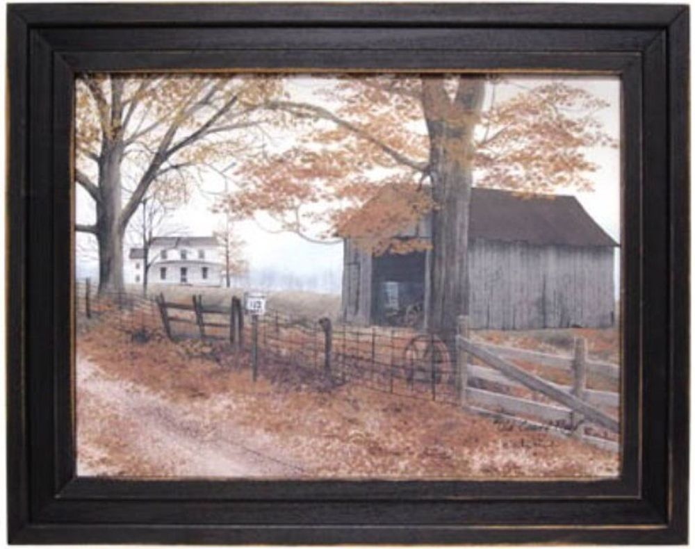 Old country road barn by billy jacobs framed print art15 12 h x old country road framed print kruenpeeper creek country gifts jeuxipadfo Choice Image
