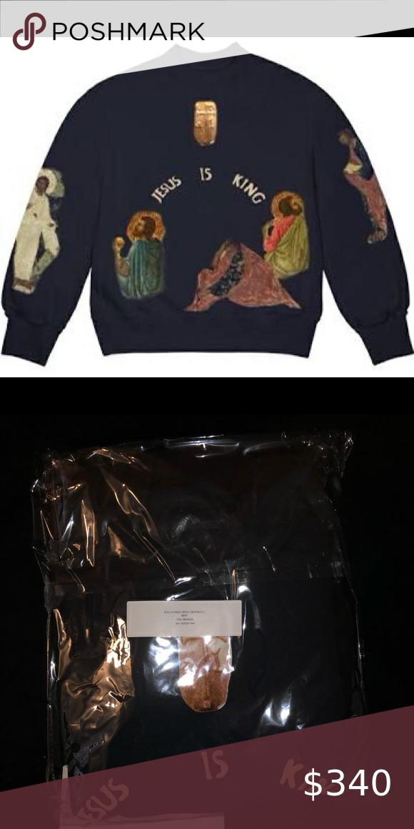 Kanye West Jesus Is King Crewneck Ii In 2020 Yeezy Sweater Kanye West Kanye