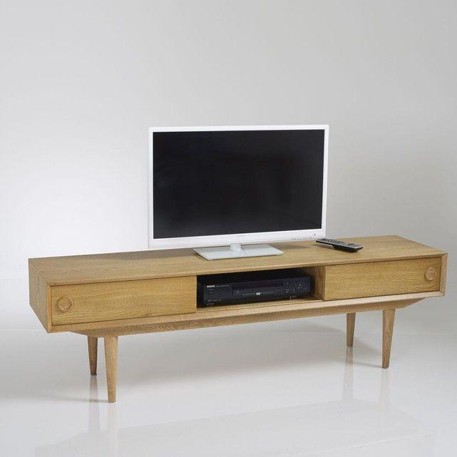 Banc Tv Vintage 2 Portes 3 Niches Quilda Mobilier De Salon Tv Vintage Banc Tv