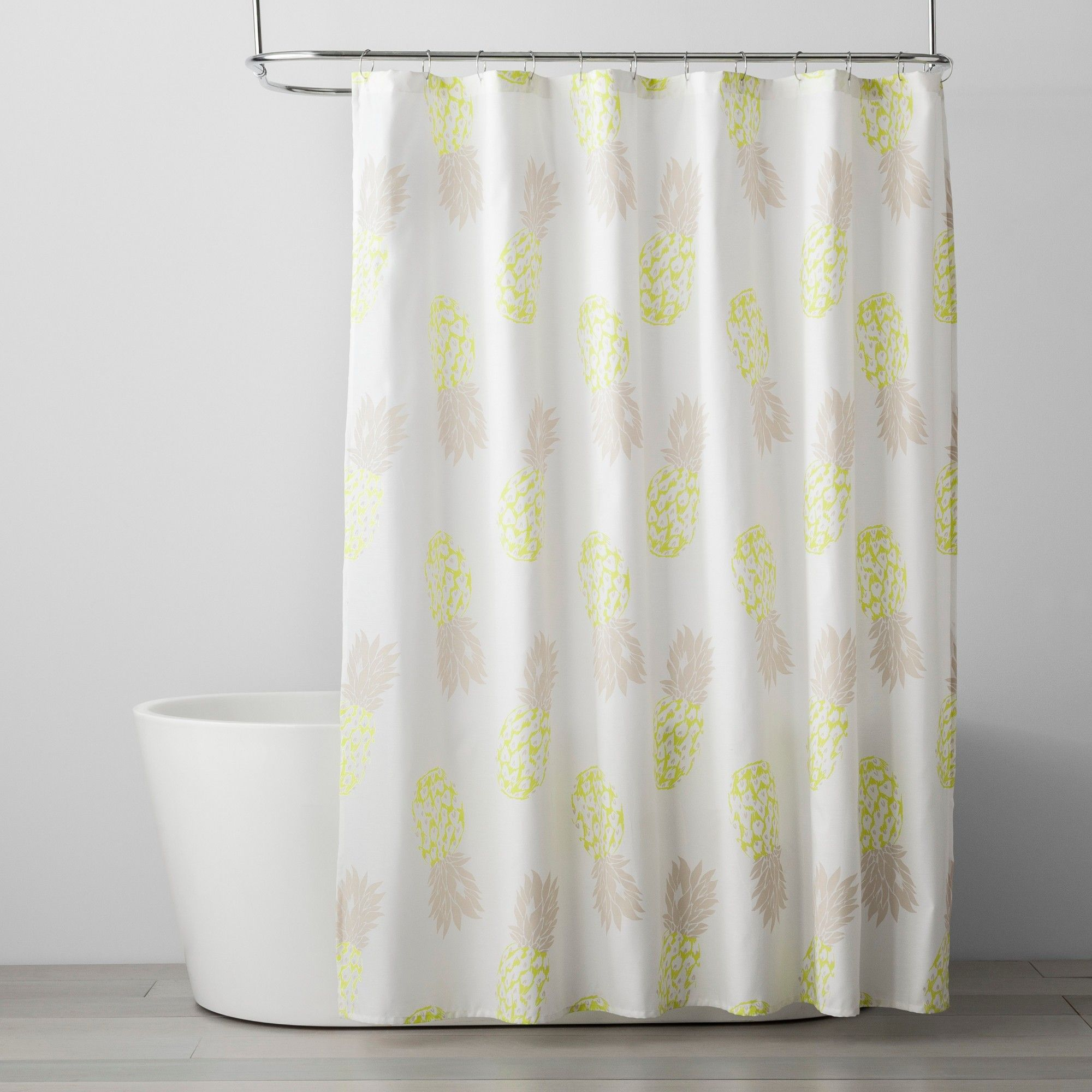 Fruit Shower Curtain Bleached Sand Room Essentials White