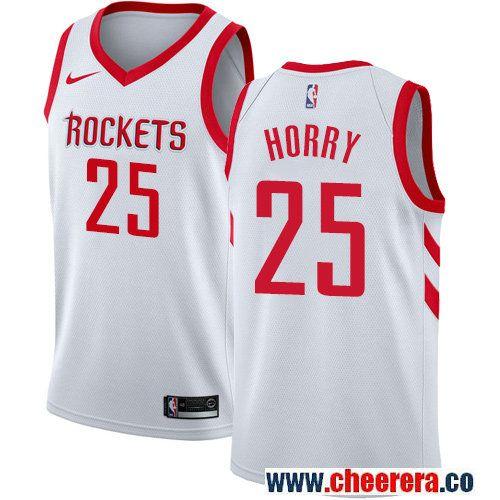 Houston Rockets #25 Robert Horry White Nike NBA Men's Stitched Swingman  Jersey