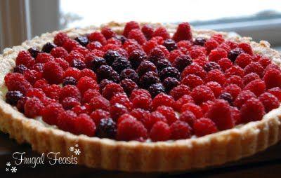 Frugal Feasts: Sweet Treats: Raspberry Tart with Lemon Curd