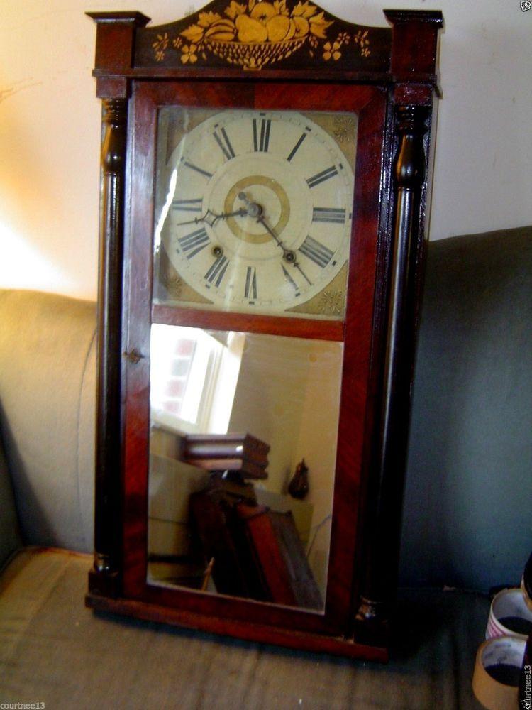 1830s Wood Works Clock Pillar Splat Upson Merrimans Co Clock