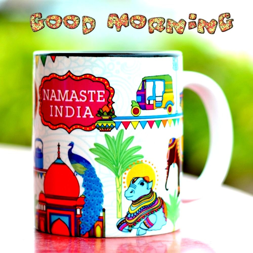 Pin by Ashok on Good Morning Namaste india, Mugs, Namaste