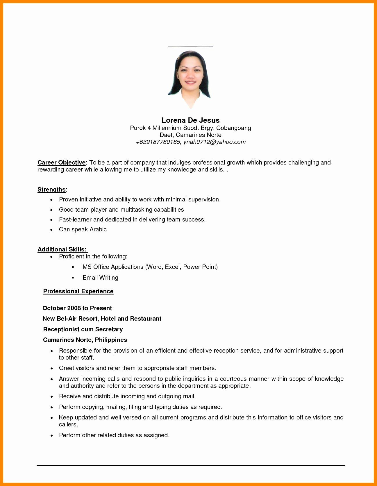 Generic Objective For Resume Inspirational General Resume Objective Examples Resume Objective Sample Career Objectives For Resume Resume Objective Examples