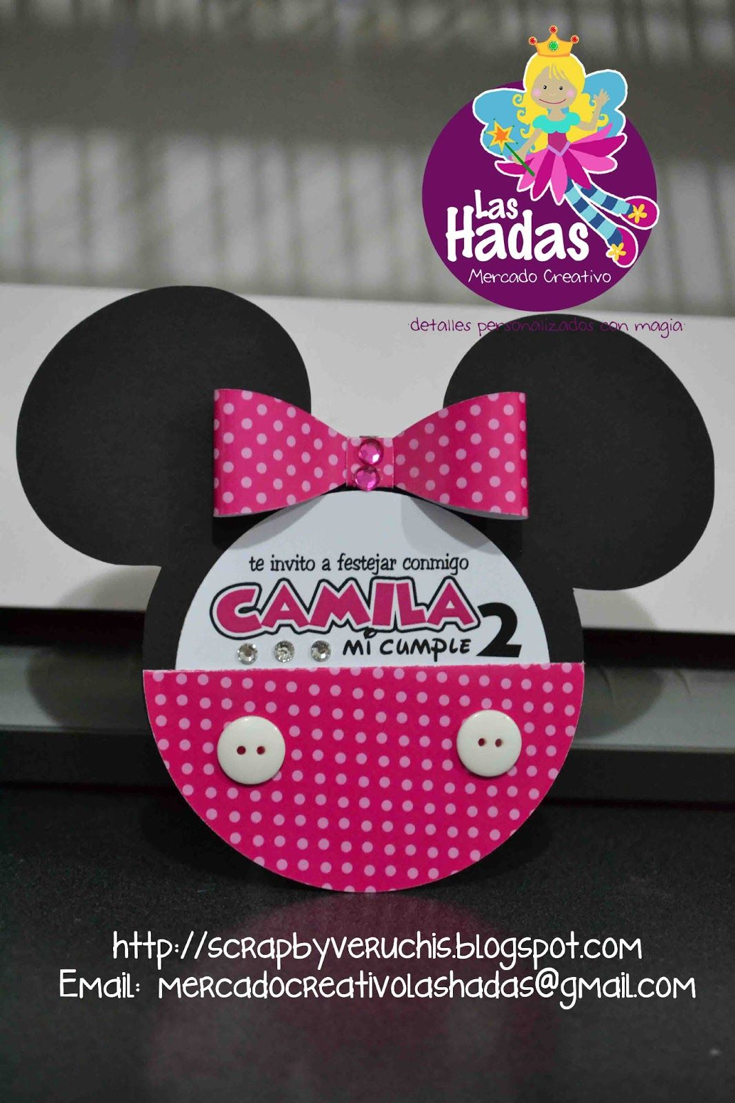 Minnie Mouse Rosa Dots Invitaciones Minnie Fiesta