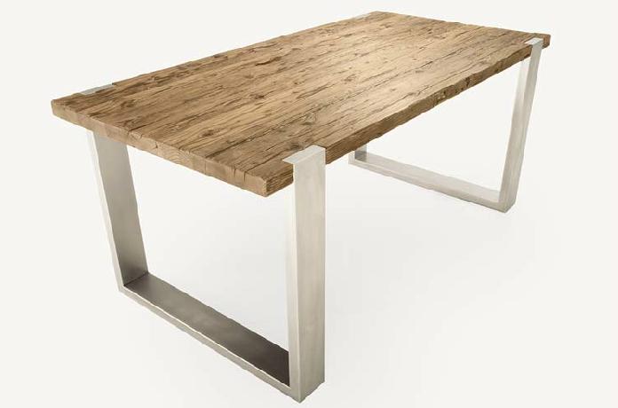 Tavolo legno acciaio cerca con google home cozy for Tavolo da pranzo legno grezzo