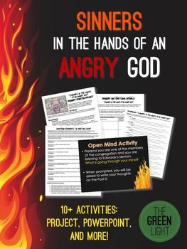 Sinners In The Hands Of An Angry God Worksheets Powerpoint Task