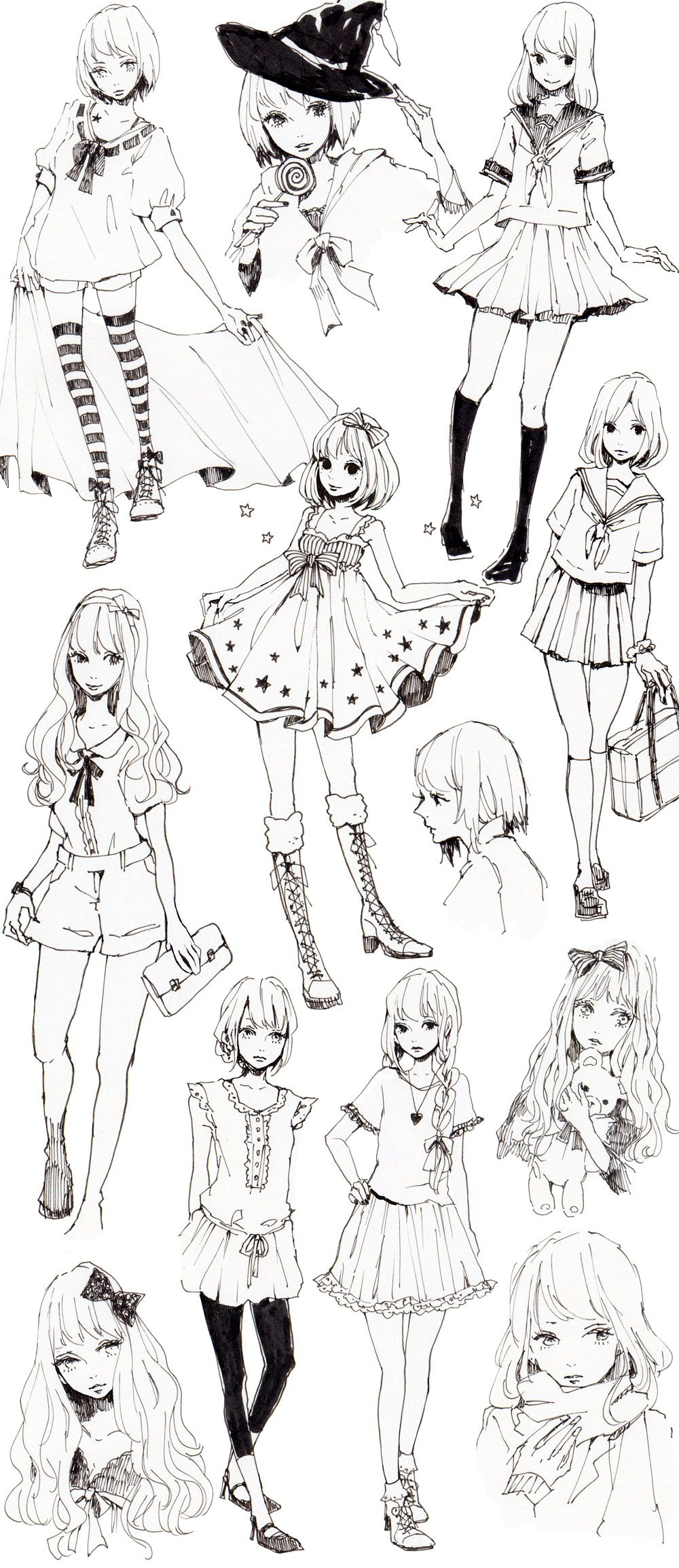 Beautiful anime girls drawing poses drawing sketches drawing tips drawing reference art