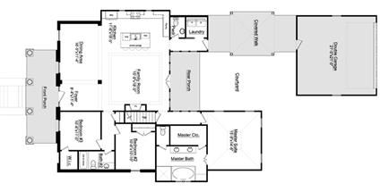 Empty Nester floor plan from and Highland Homes with the Classic Model floor plan