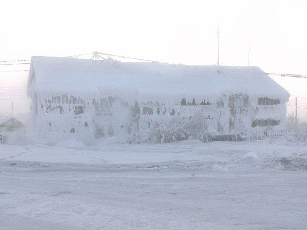 This is the Russian village of Oymyakon. | This Is The Coldest Inhabited Place On Earth And It Looks Hellish