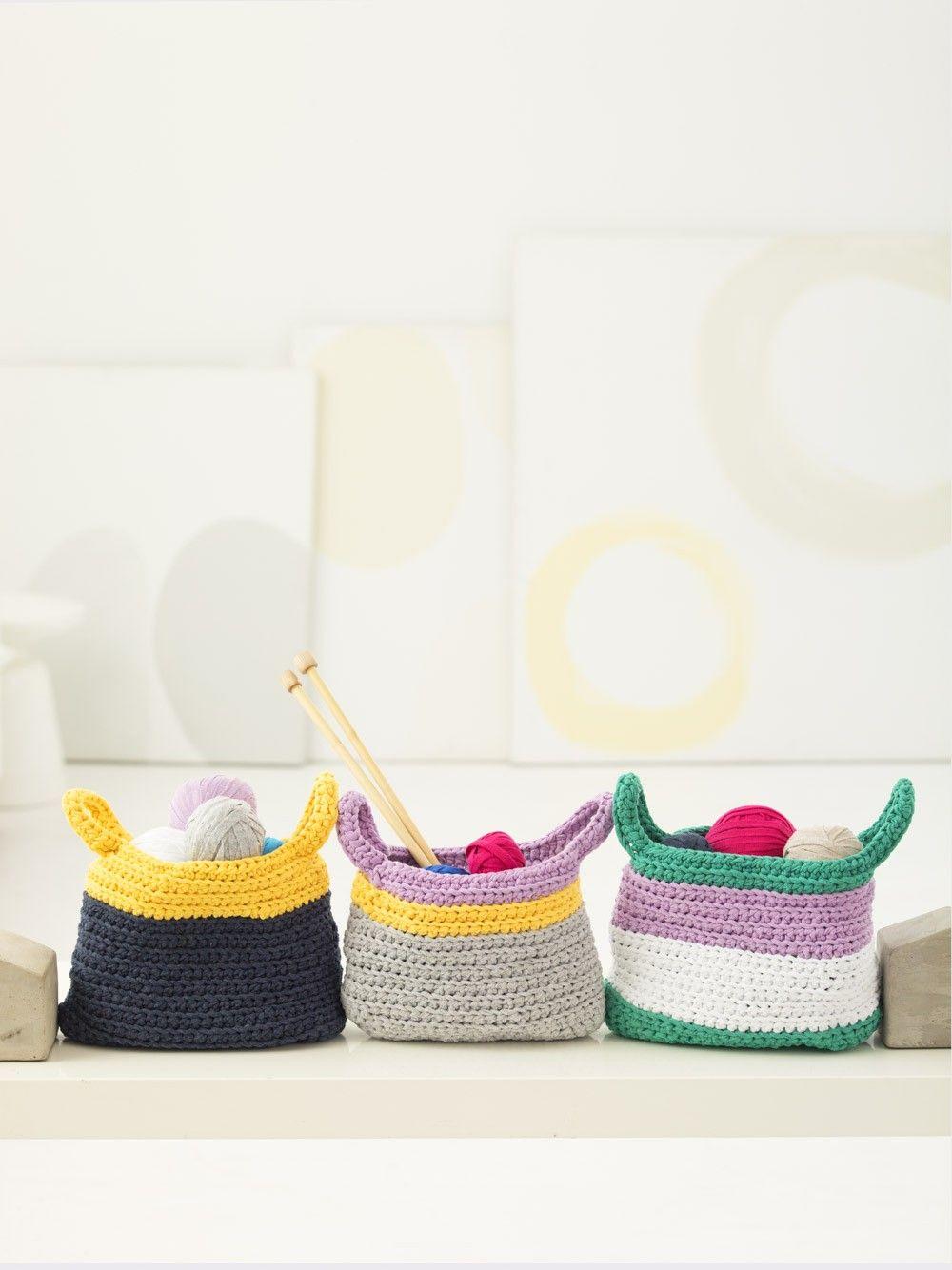 Bright Baskets (Crochet) | crochet | Pinterest