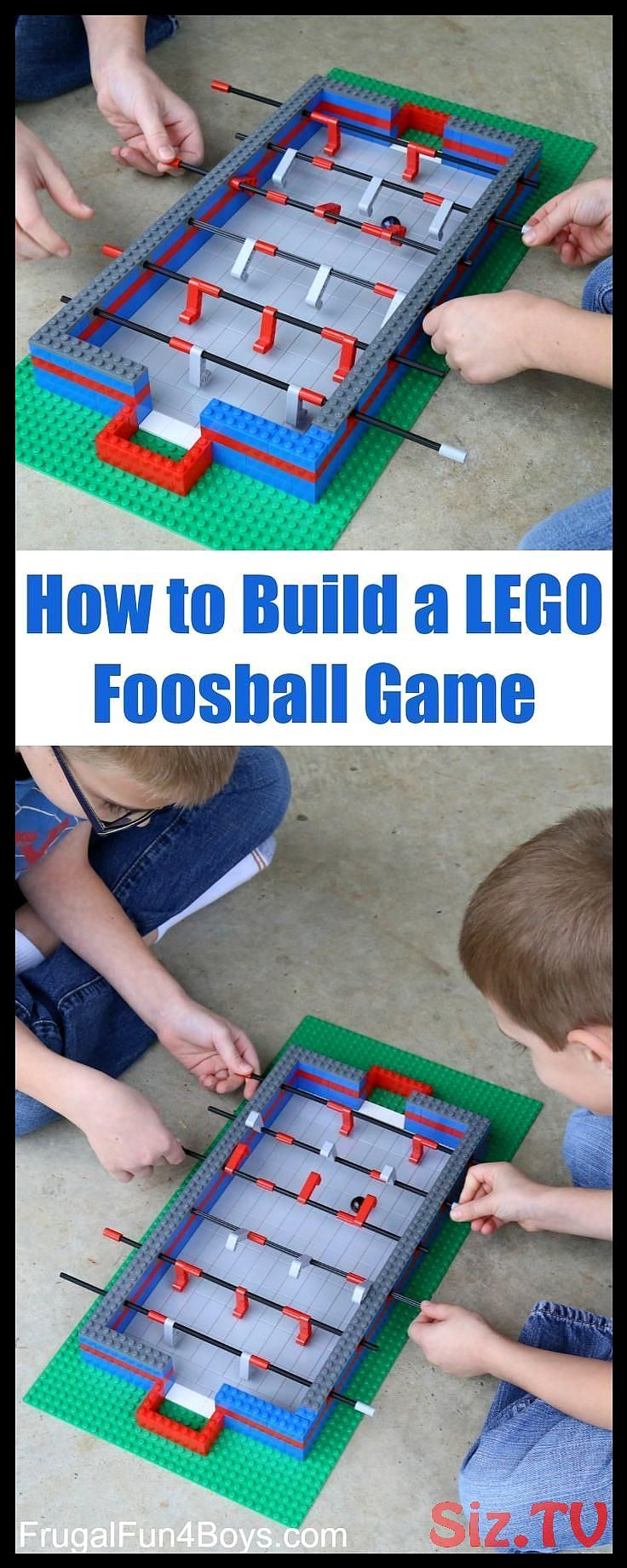 How to build a LEGO Foosball game - it really works! Use a ball for the ball,  How to build a LEGO Foosball game - it really works! Use a ball for the ball,