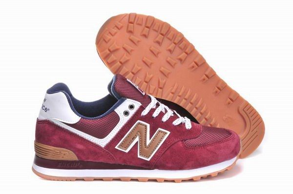 Joes New Balance ML574CAO Sneakers Canteen Suede Burgundy White Mens Shoes