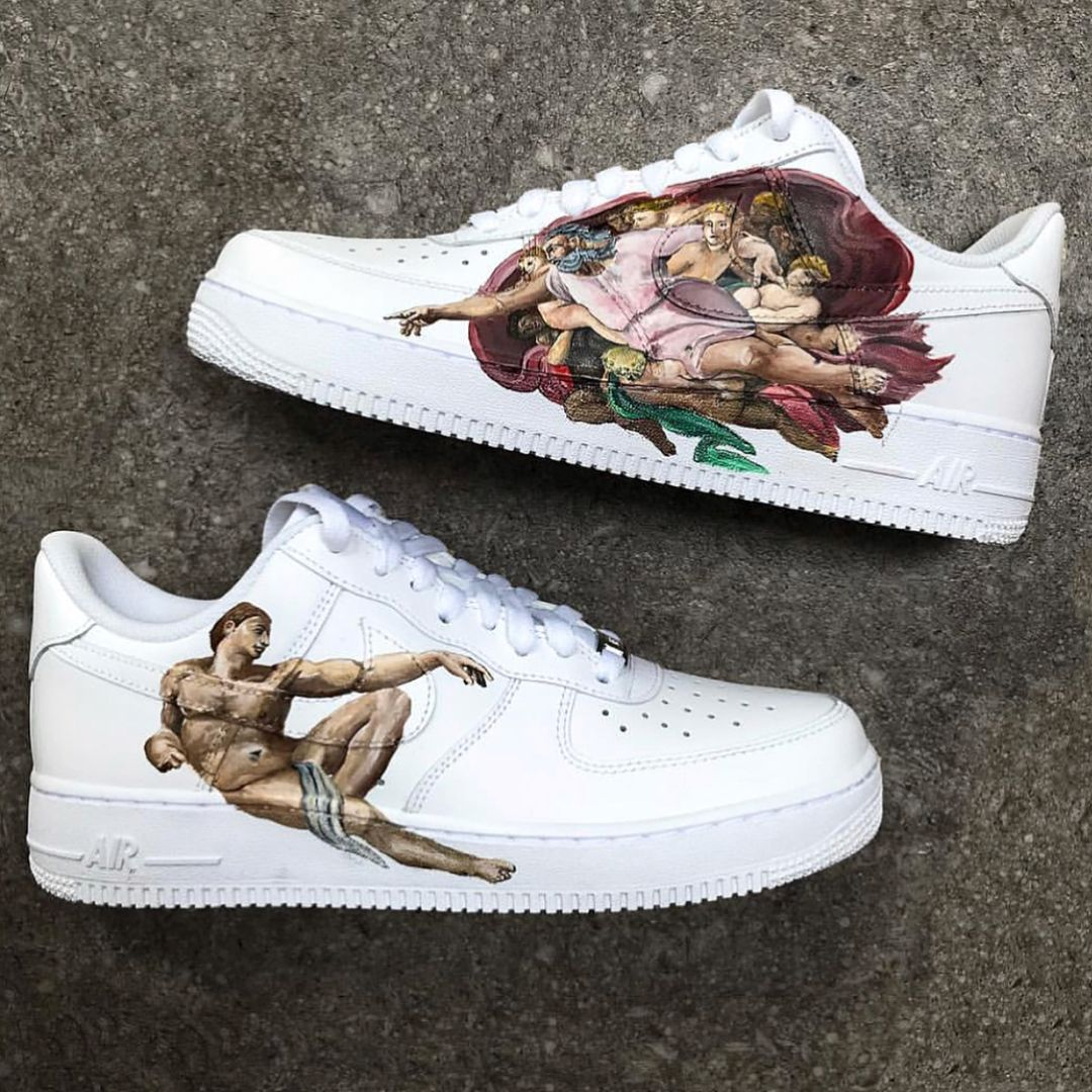285ef05bcd Sneakers inspiration. Nike Air Force 1 - customized   creation of adam