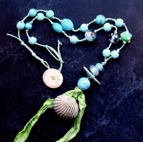 Song of the Siren Necklace Mermaid Sea Turquoise by 13Alternatives