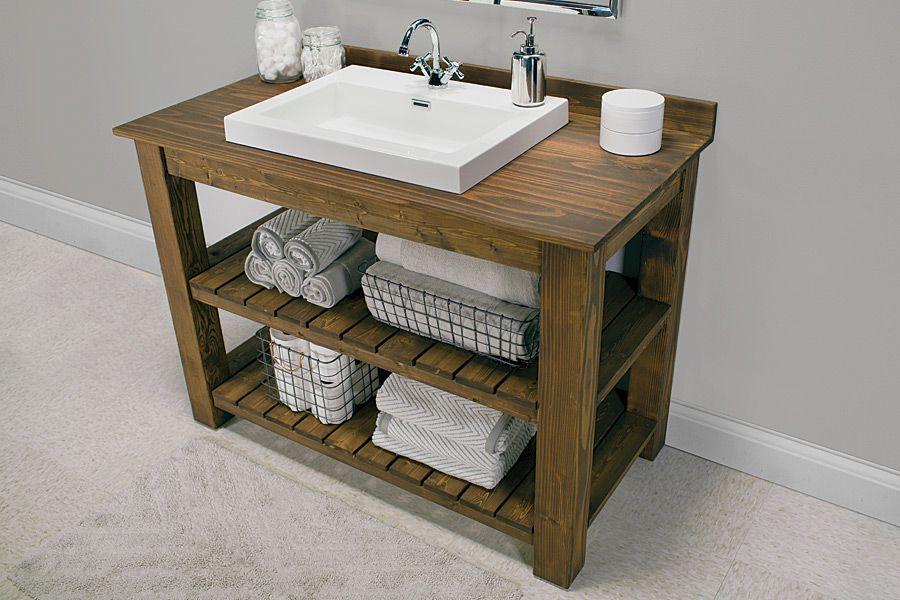 Rustikal Badezimmer Eitelkeit Plane Kreativ Bescheiden