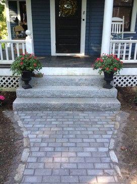 Low Steps With Brick Walkway Exterior Stairs Front Door Steps Granite Stairs