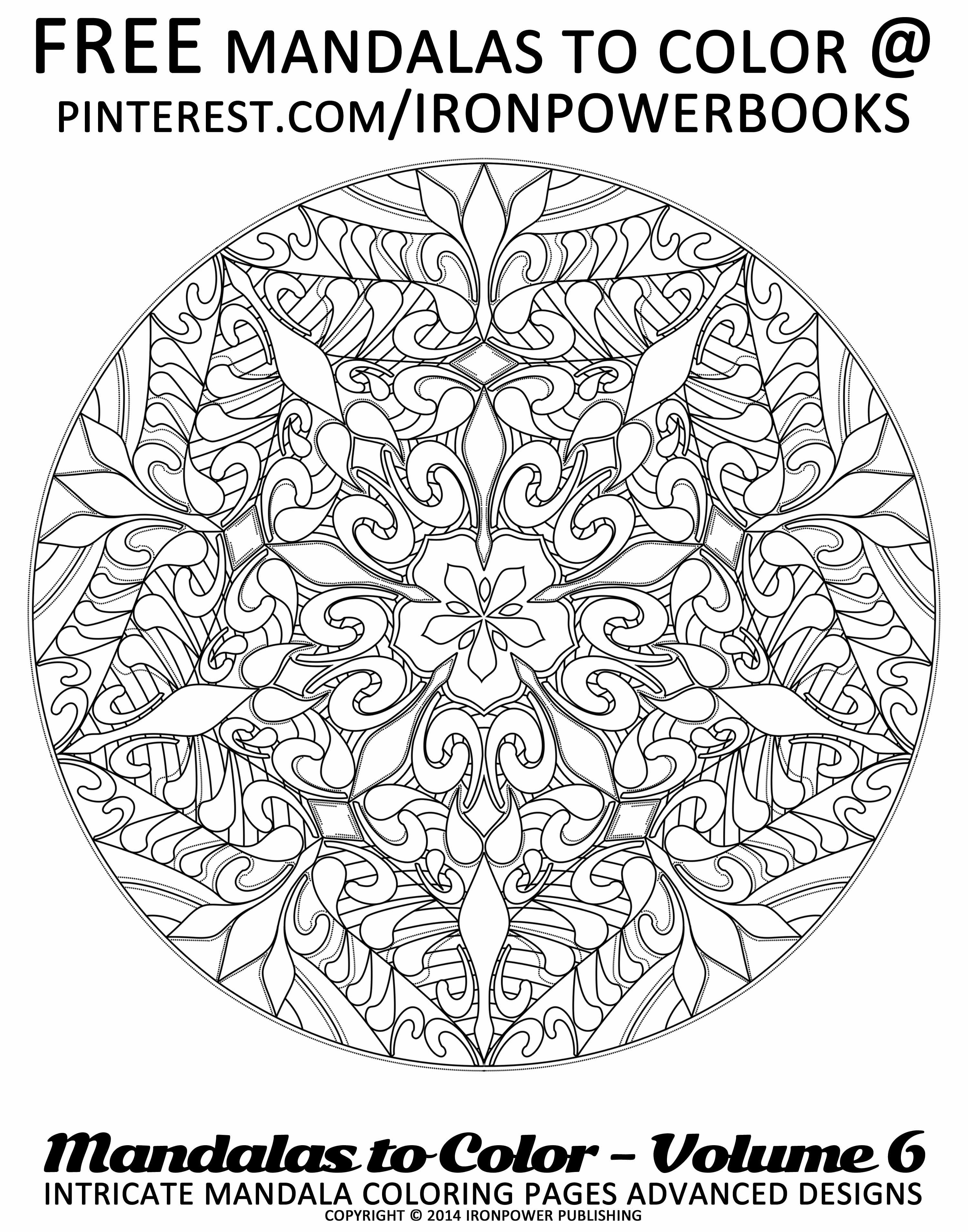 Intricate Mandala Coloring Pages For FREE