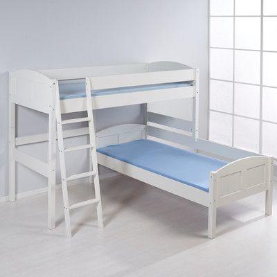 Best Wrigglebox Ida High Sleeper L Bunk Bed With Slats Bunk 400 x 300