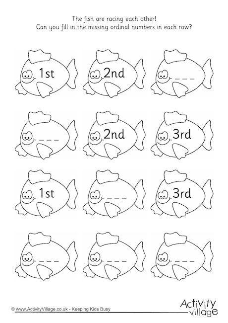 math worksheet : ordinal numbers worksheets printables  worksheets ordinal numbers  : Kindergarten Ordinal Numbers Worksheet