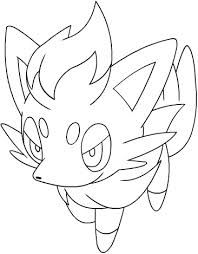Zorua Sketch Google Search Pokemon Coloring Pages Coloring