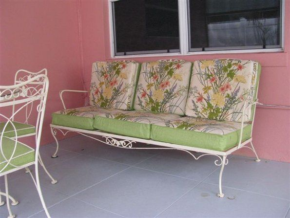 Original Lyon Shaw Cushions Vintage Outdoor Furniture Iron Patio