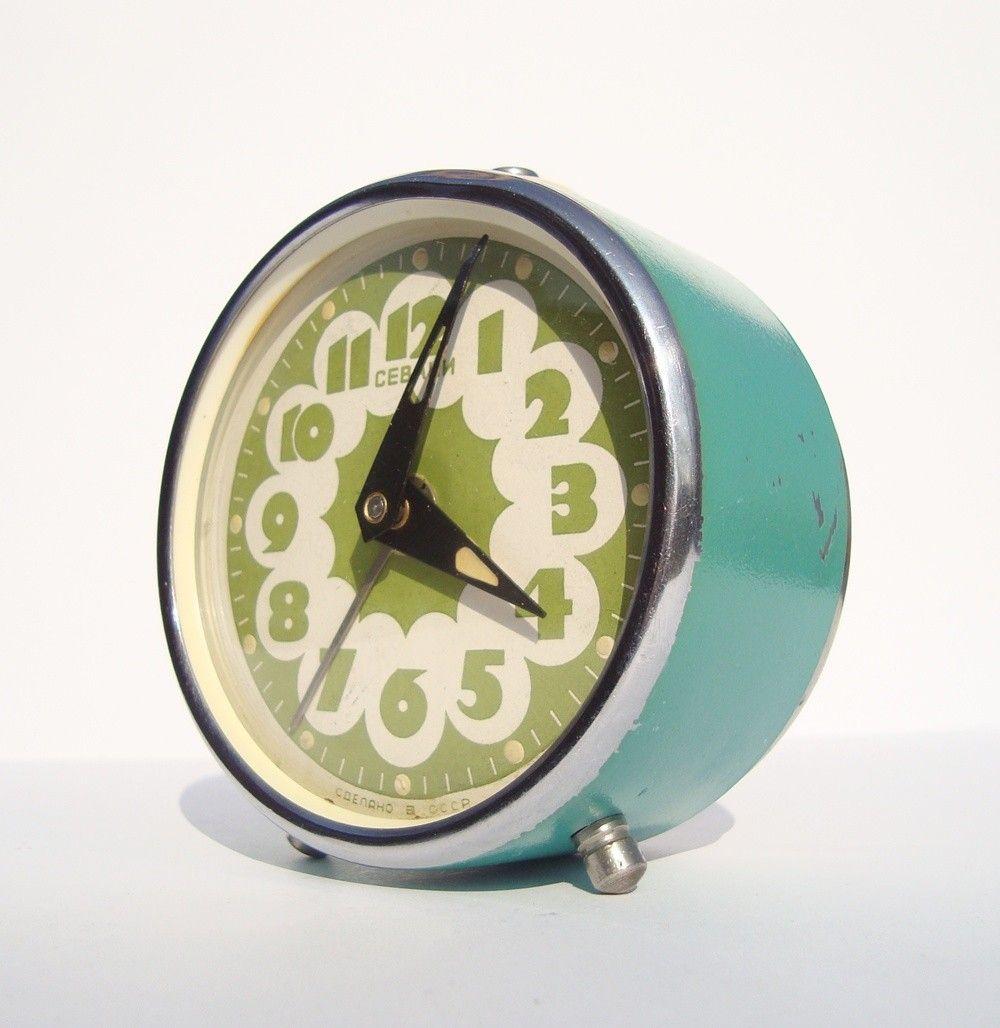 Vintage Alarm Clock Sevani   Часы