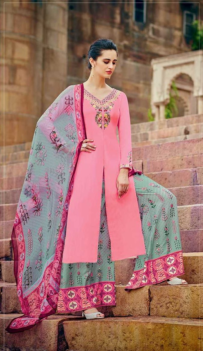 0b5f22fef9b Buy Pink color cotton palazzo salwar kameez in UK