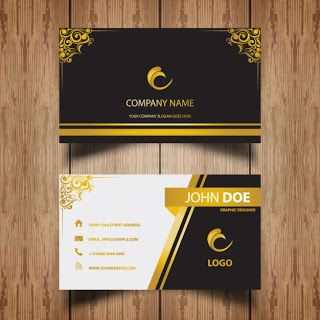 Vektrel izim indirvektrel ndircdrcorel draw indirvektr free luxury golden ornaments name card template accmission Images