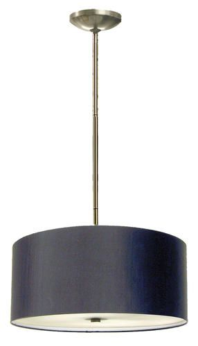 Marquis Lighting 3 Light 8 Satin Chrome Incandescent Pendant With Black Glass At Menards Black Glass Light Indoor Lighting