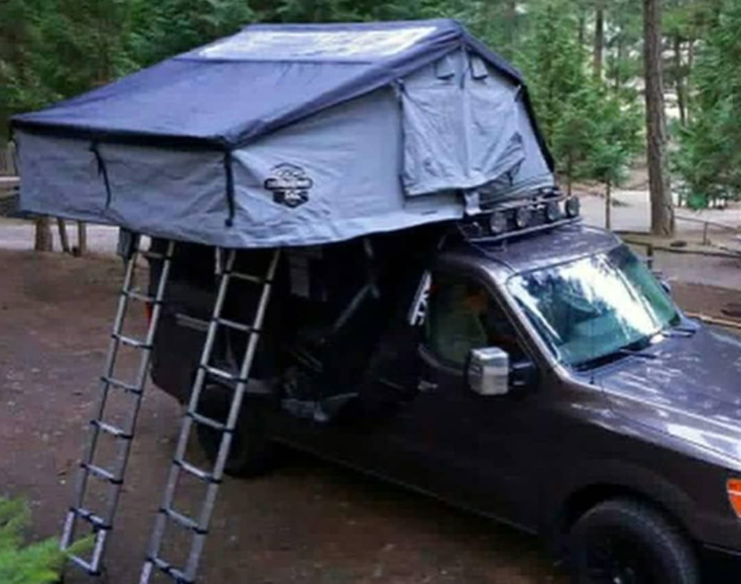 Afwdconversions 4x4 Nissan Nv Conversion With Aluminess Roof Rack And Cvttents Great Combo For Family Camping Roof Tent Roof Rack Winch Bumpers