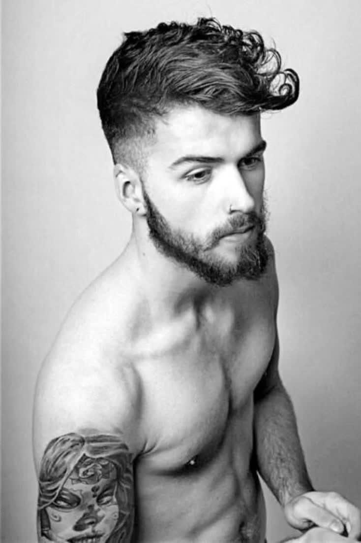 25 Curly Fade Haircuts For Men - Manly Semi-Fro Ha