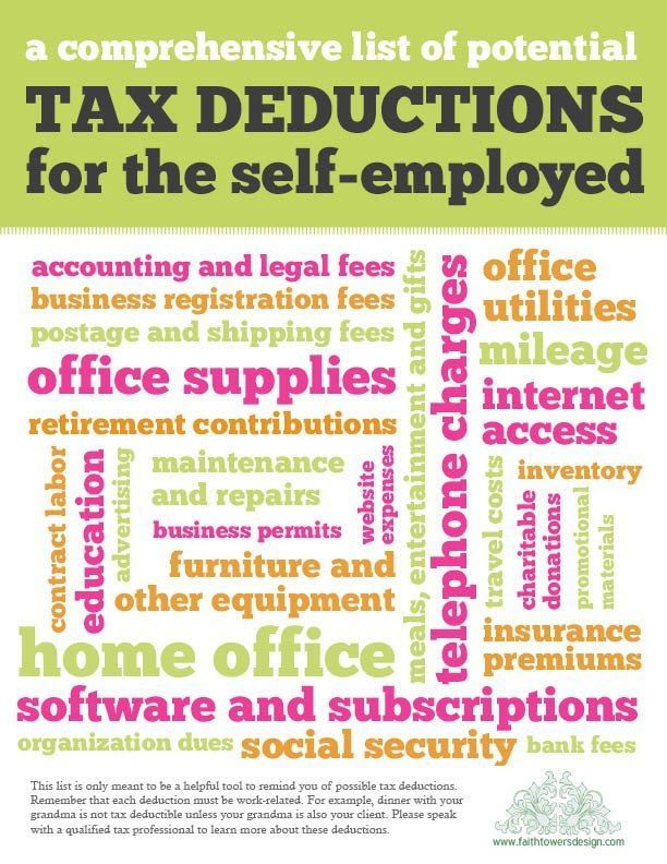 What Expenses Can I Write Off If I Am SelfEmployed  Tax Deductions