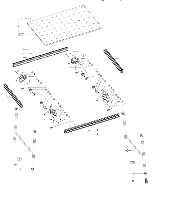 Festool MFT-3 (495314) Multifunction Table Parts