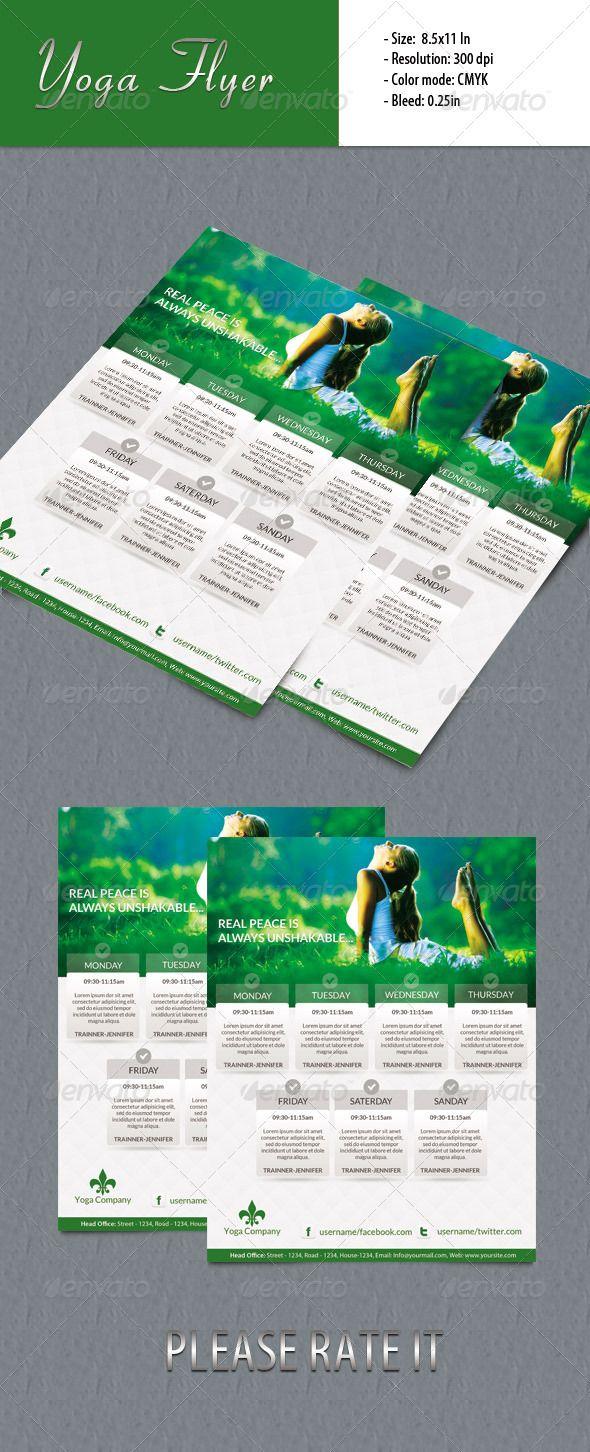 Yoga Flyer Fully Editable Promotional Flyer Template Flyer