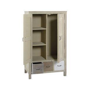 Armoire Pierrot en manguier 2 portes 3 tiroirs Jardin d\'Ulysse ...
