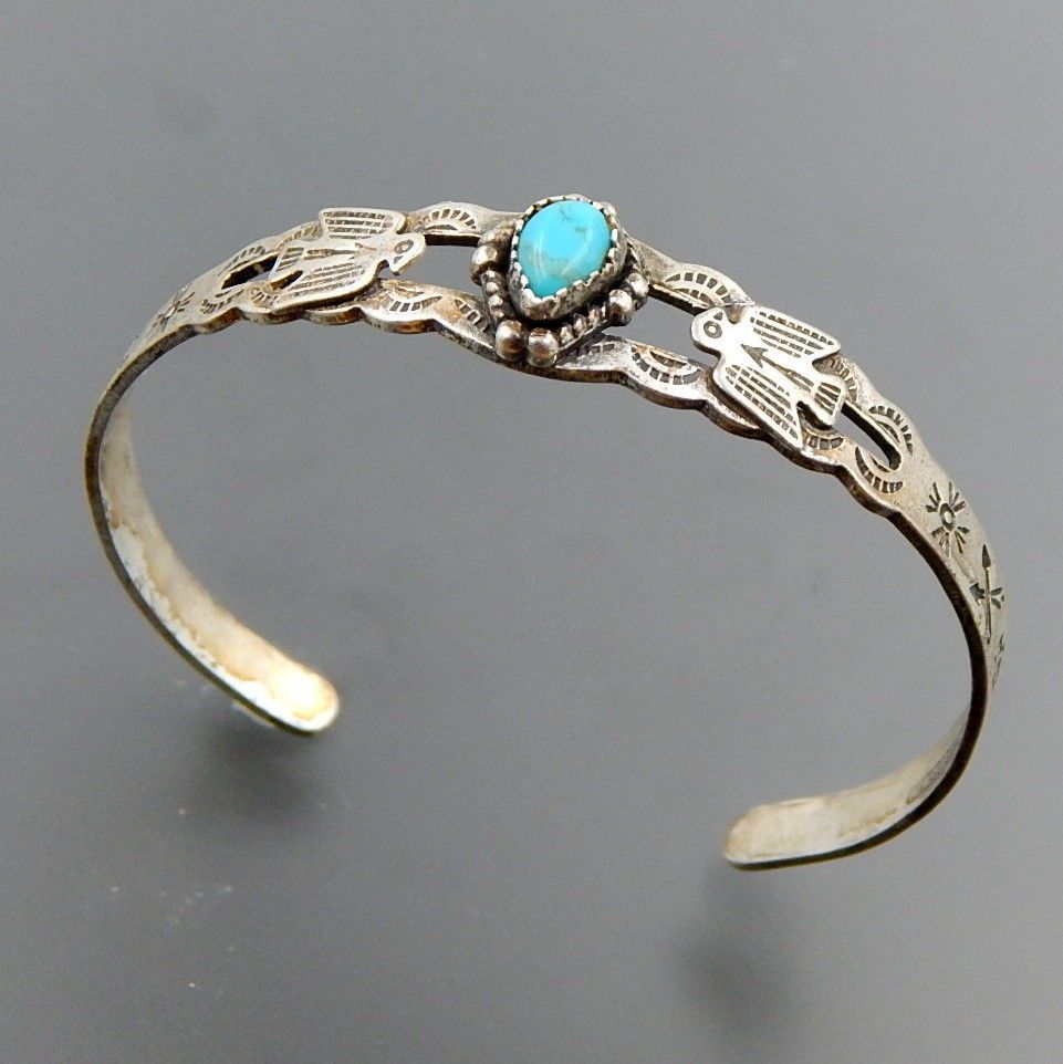 BELL TRADING POST STERLING SILVER TURQUOISE BIRDS ARROWS