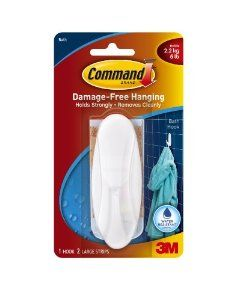Command Designer Large Plastic Hook Water Resistant Strips 1 Hook 2 Strip By Command 5 97 Amazon Com Bath Toy Organization Frame Hangers Stripping