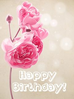 Pink Rose With Images Happy Birthday Greetings Birthday