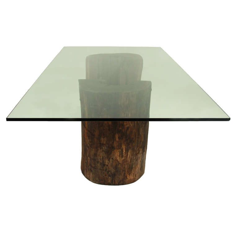 Charming Dining Room Table Base Ideas Part - 6: 9 Cool Pedestals Glass Tables Design Ideas : Twin Pedestals Dining Table  For Glass Tables