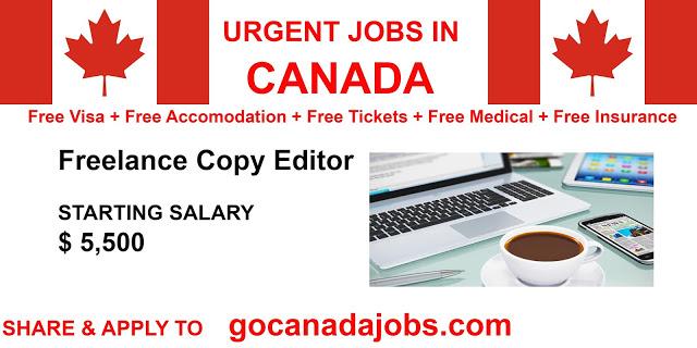 Freelance Copy Editor Jobs Career Hiring In Canada Job Career Job Freelancing Jobs